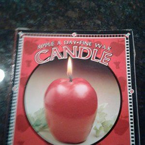Beautiful life-like unsented new Apple Candles